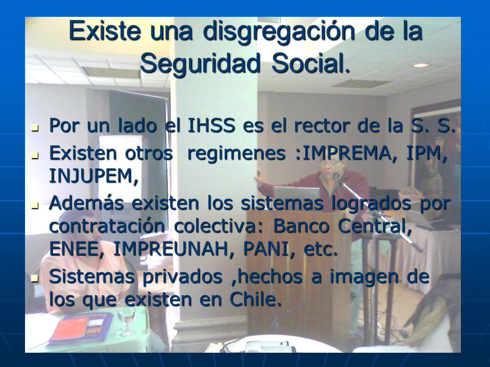 Existe una disgregación de la Seguridad Social.