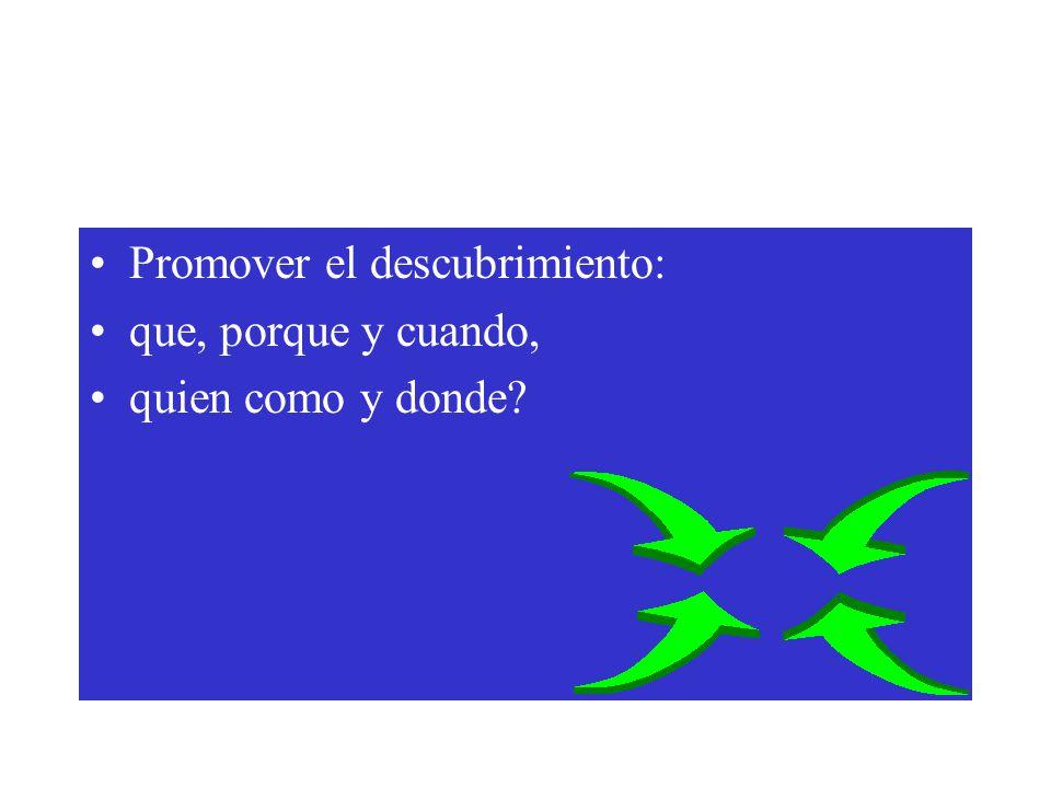 Promover el descubrimiento: