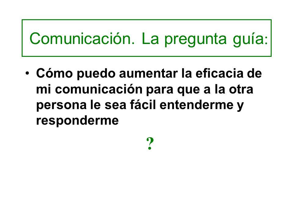 Comunicación. La pregunta guía: