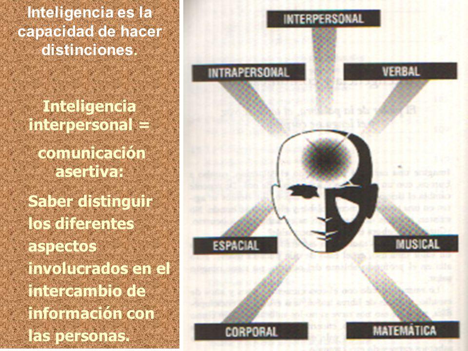 Inteligencia es la capacidad de hacer distinciones.