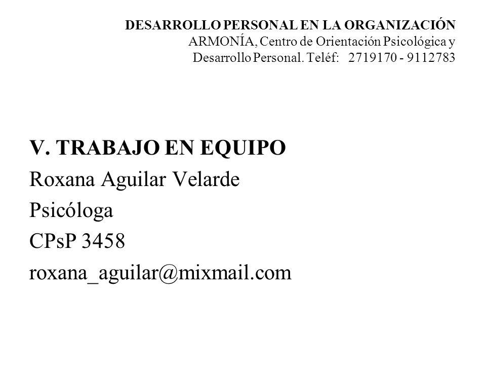 Roxana Aguilar Velarde Psicóloga CPsP 3458 roxana_aguilar@mixmail.com