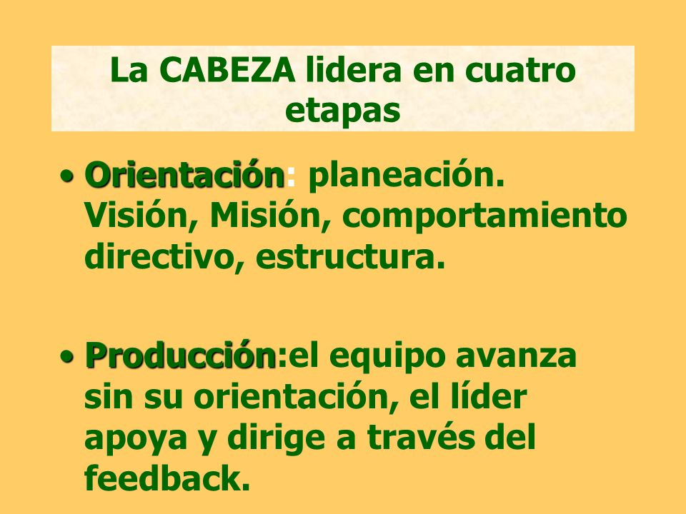 La CABEZA lidera en cuatro etapas