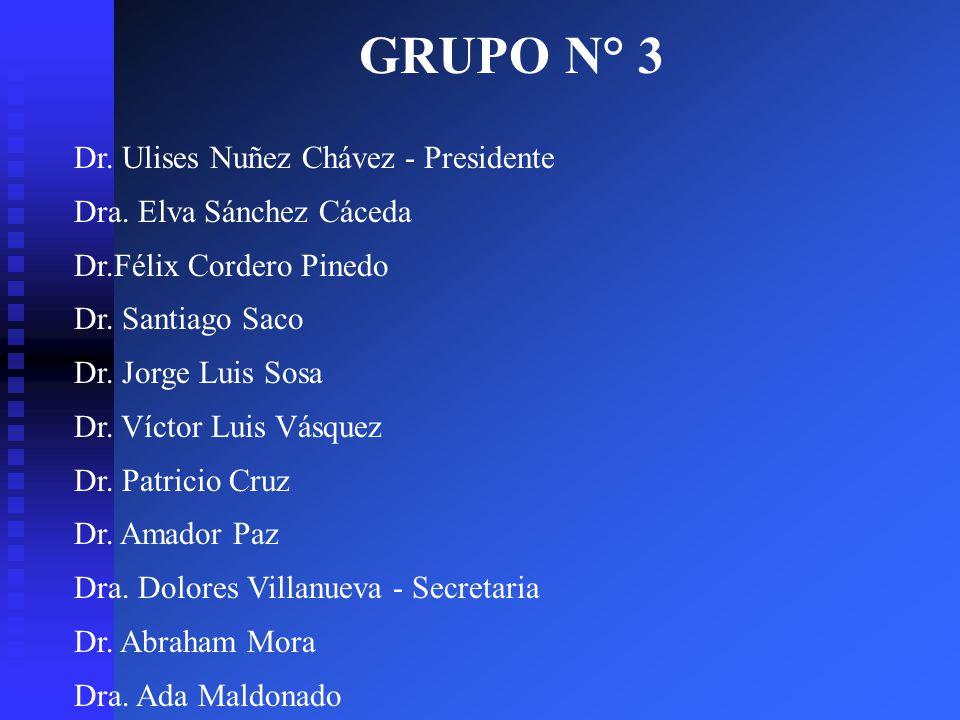 GRUPO N° 3 Dr. Ulises Nuñez Chávez - Presidente