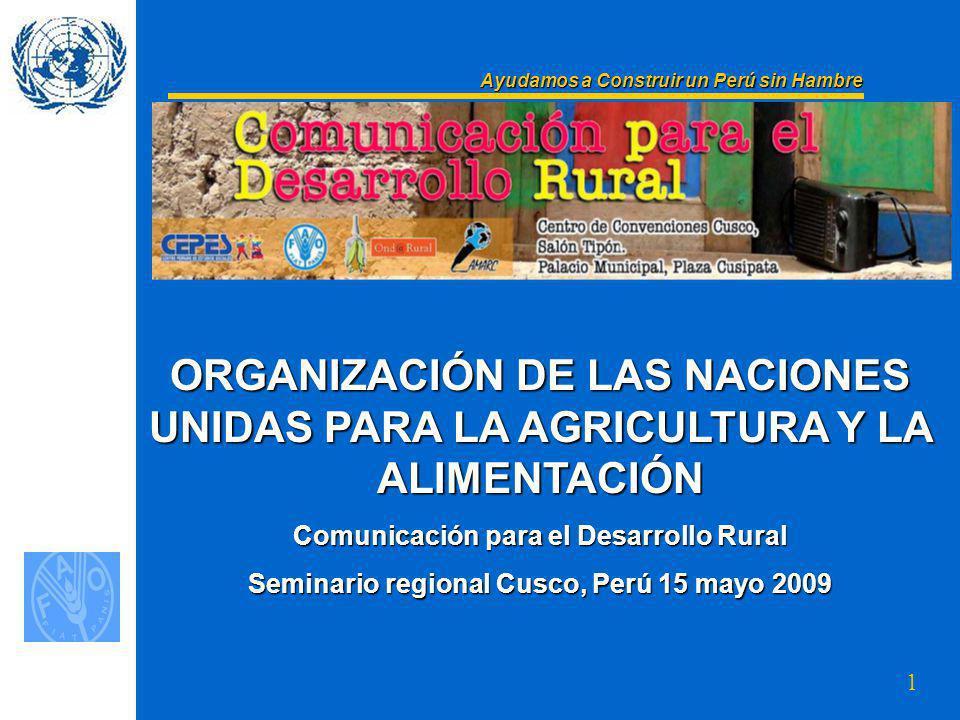 Ayudamos a Construir un Perú sin Hambre