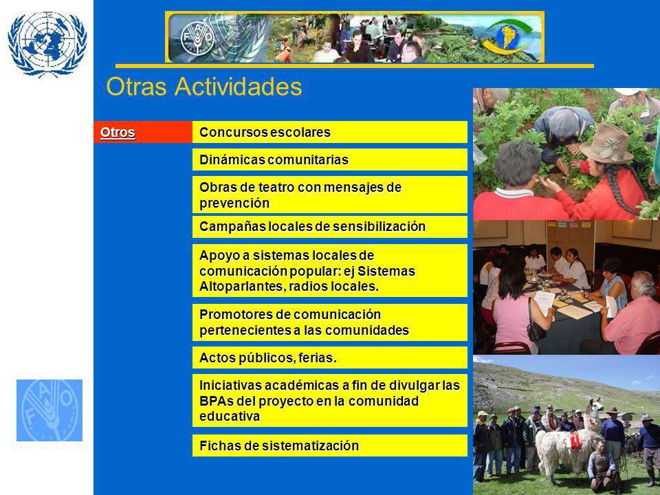 Otras Actividades Otros Concursos escolares Dinámicas comunitarias