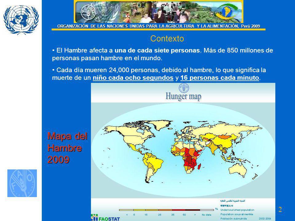 Mapa del Hambre 2009 Contexto