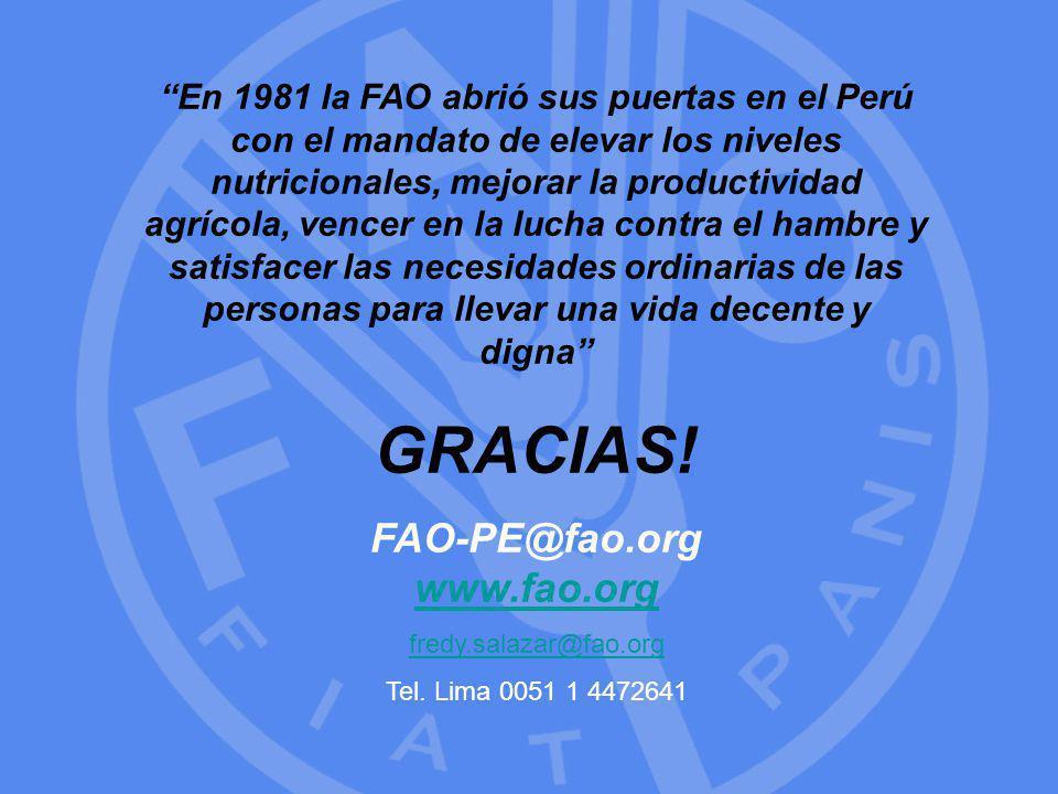 FAO-PE@fao.org www.fao.org