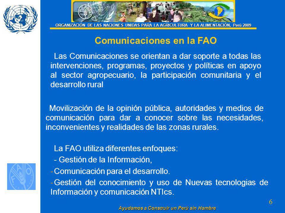 Comunicaciones en la FAO