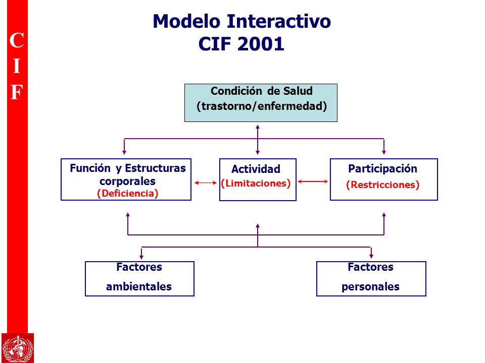 Modelo Interactivo CIF 2001