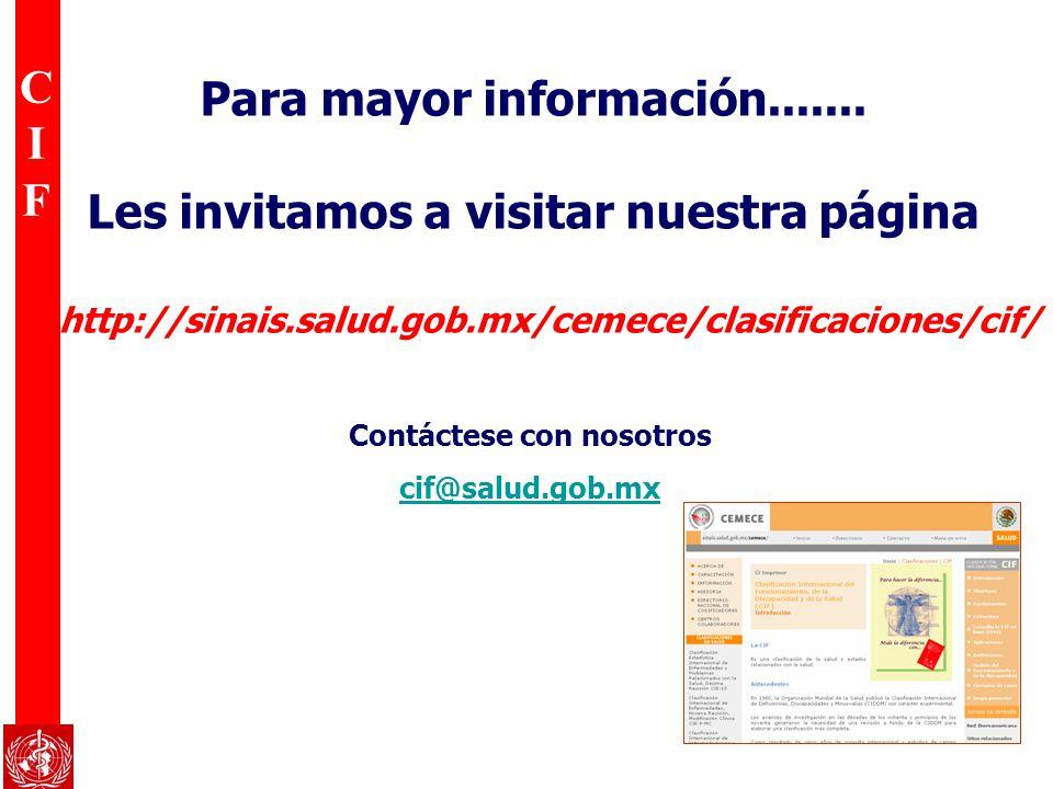 Para mayor información....... Les invitamos a visitar nuestra página