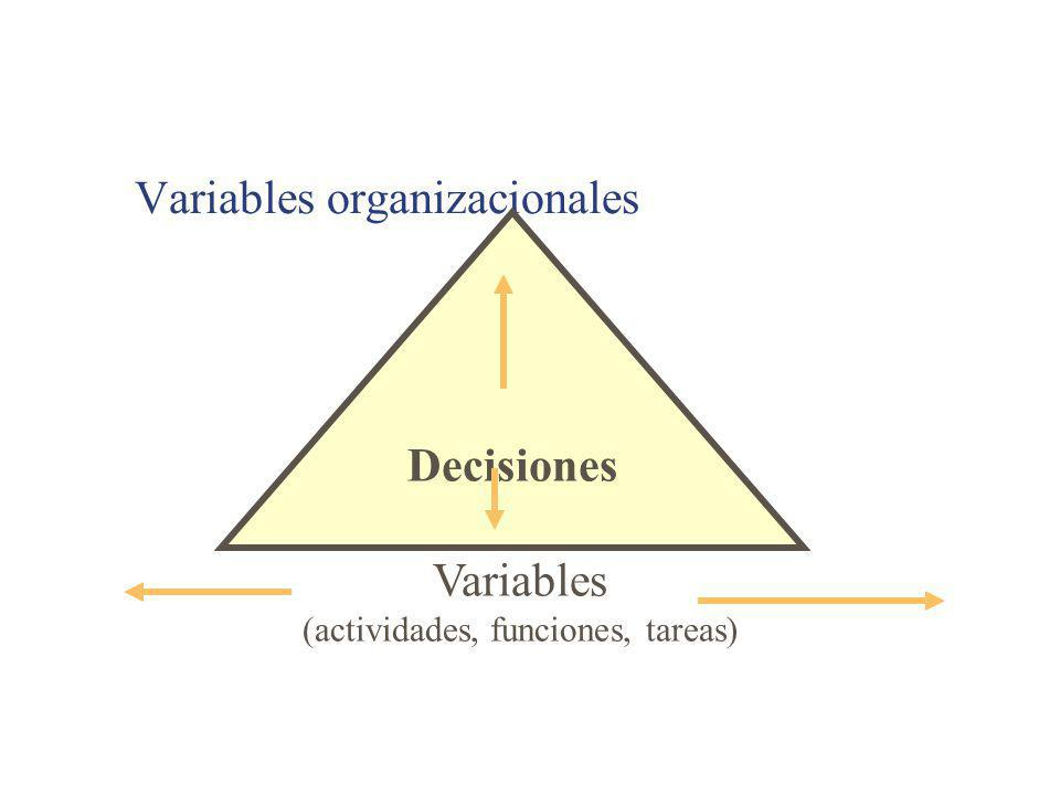 Variables organizacionales
