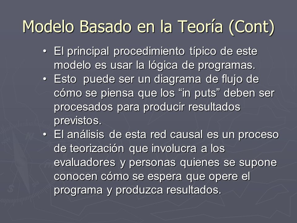 Modelo Basado en la Teoría (Cont)