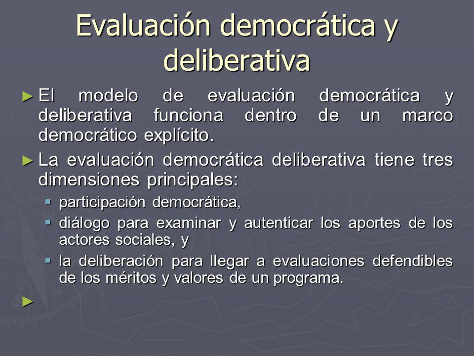 Evaluación democrática y deliberativa
