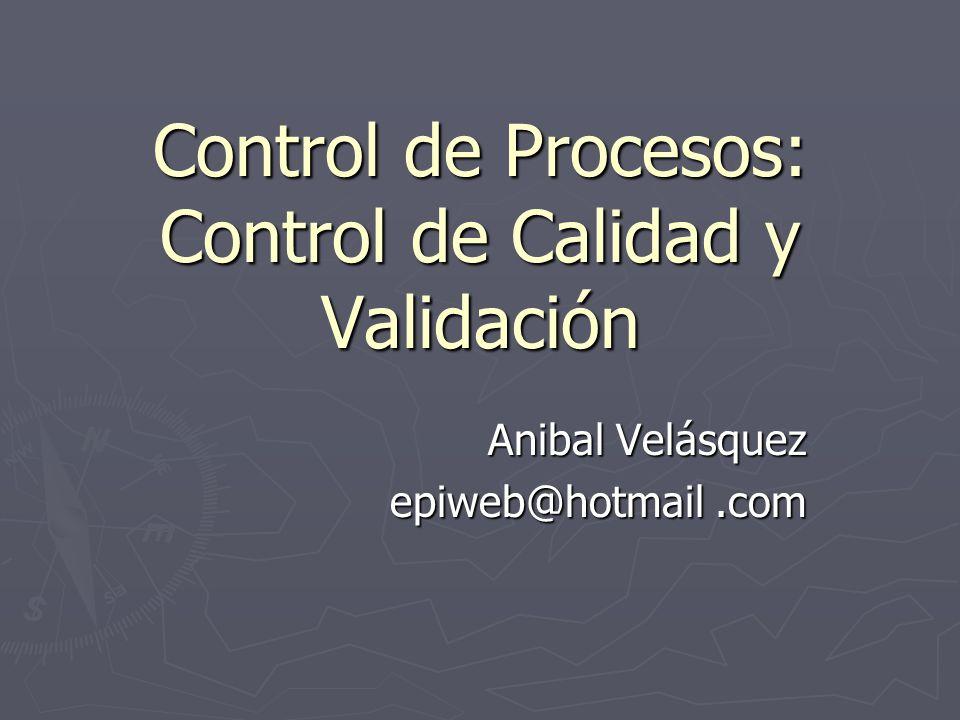 Control de Procesos: Control de Calidad y Validación