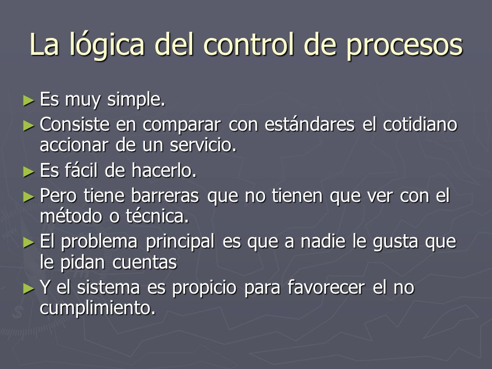 La lógica del control de procesos