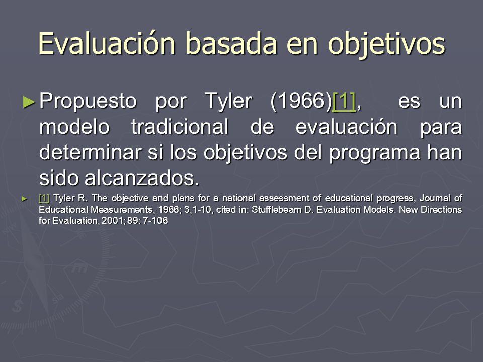 Evaluación basada en objetivos