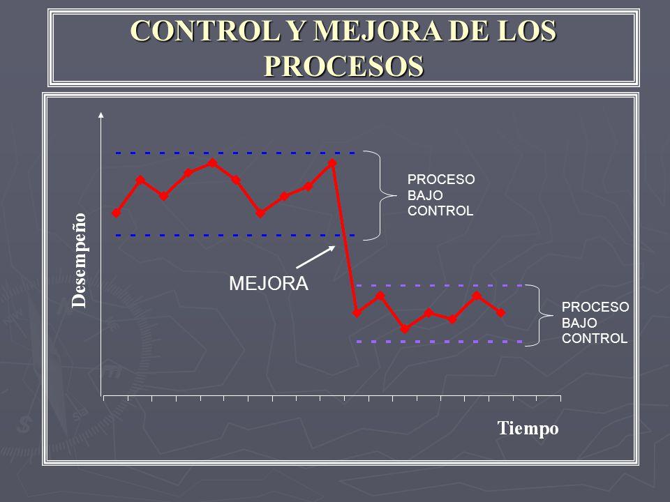 CONTROL Y MEJORA DE LOS PROCESOS