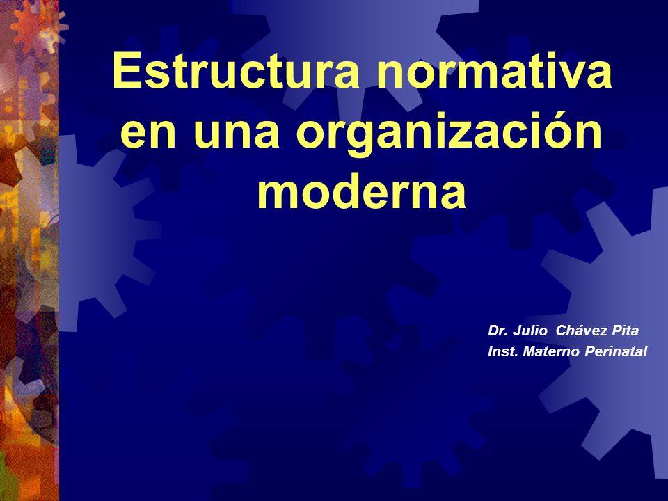 Estructura normativa en una organización moderna