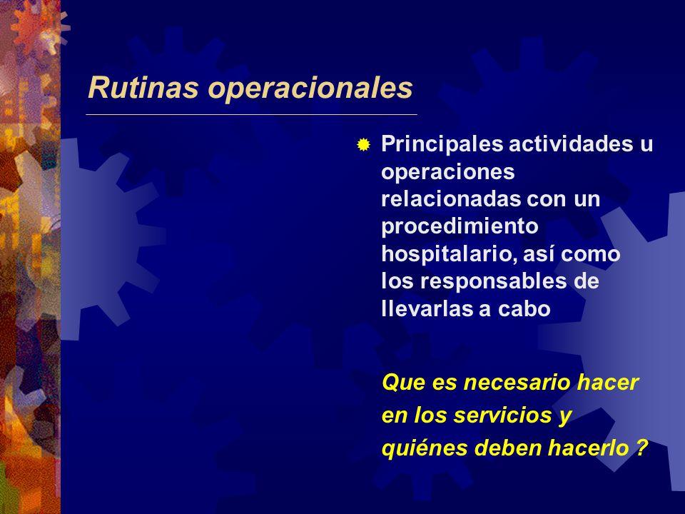 Rutinas operacionales