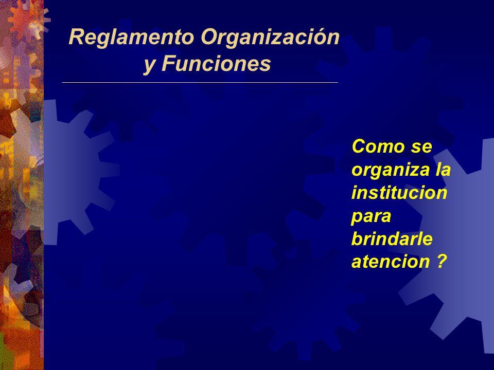 Reglamento Organización y Funciones