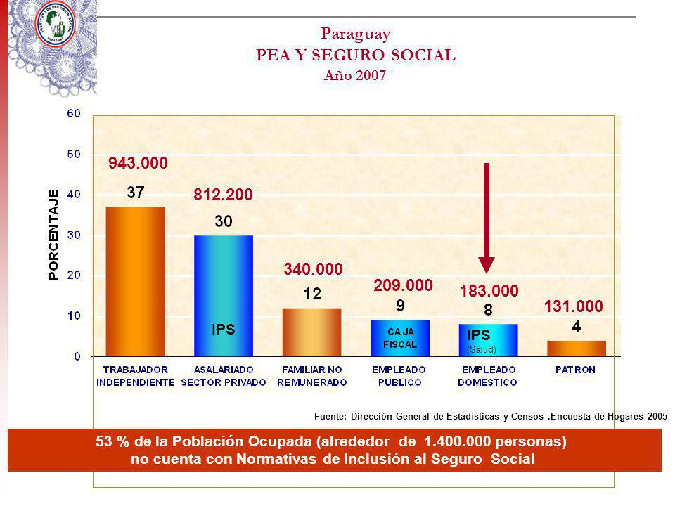 Paraguay PEA Y SEGURO SOCIAL Año 2007