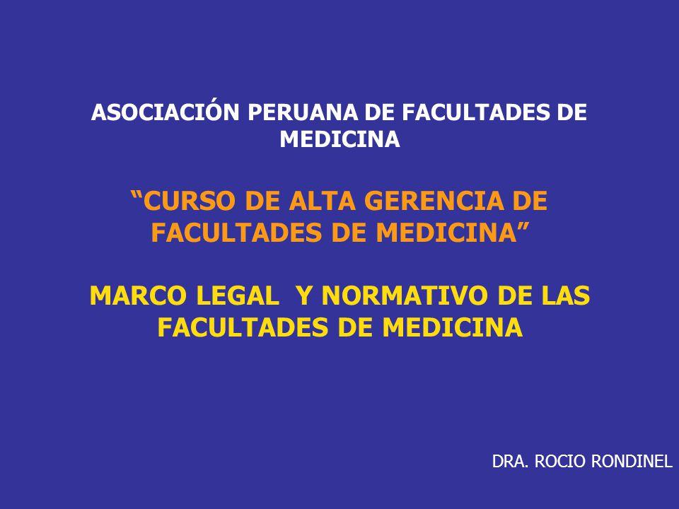 CURSO DE ALTA GERENCIA DE FACULTADES DE MEDICINA