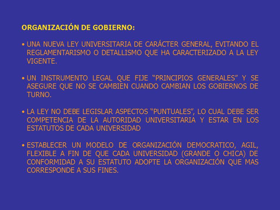 ORGANIZACIÓN DE GOBIERNO: