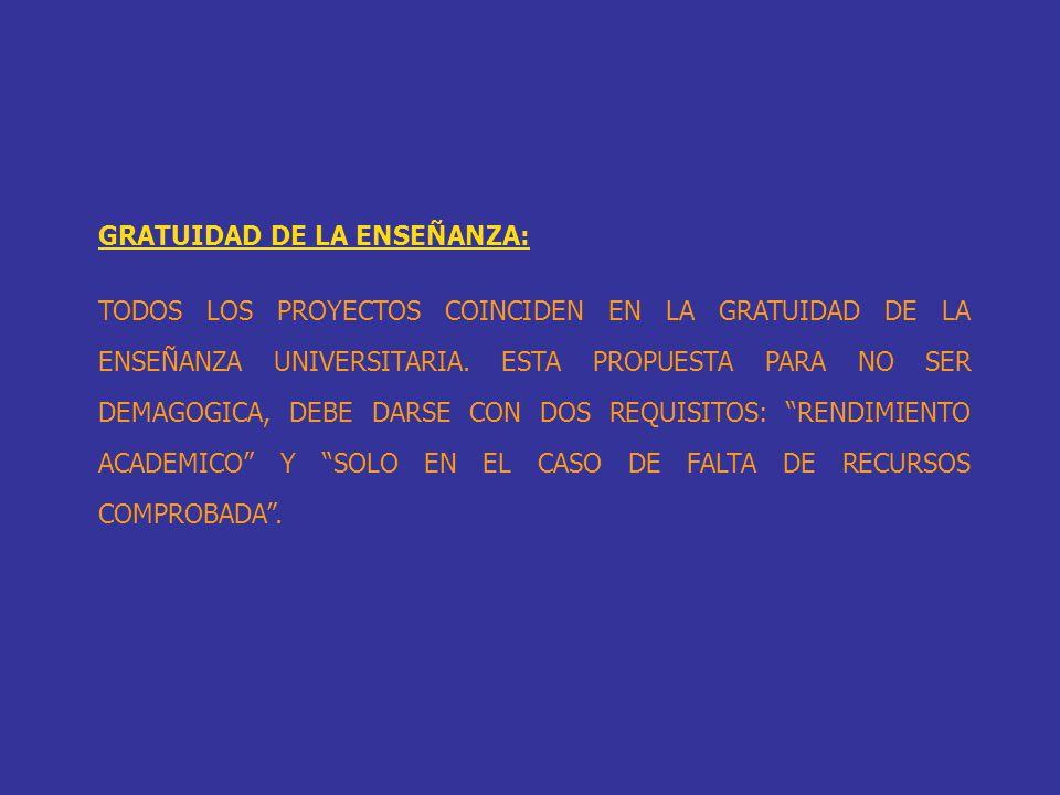 GRATUIDAD DE LA ENSEÑANZA: