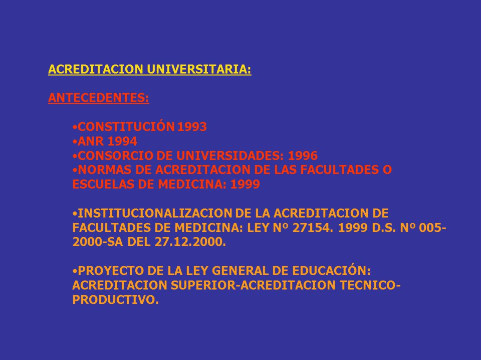 ACREDITACION UNIVERSITARIA: