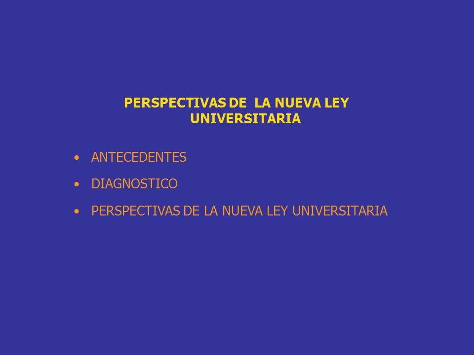 PERSPECTIVAS DE LA NUEVA LEY UNIVERSITARIA