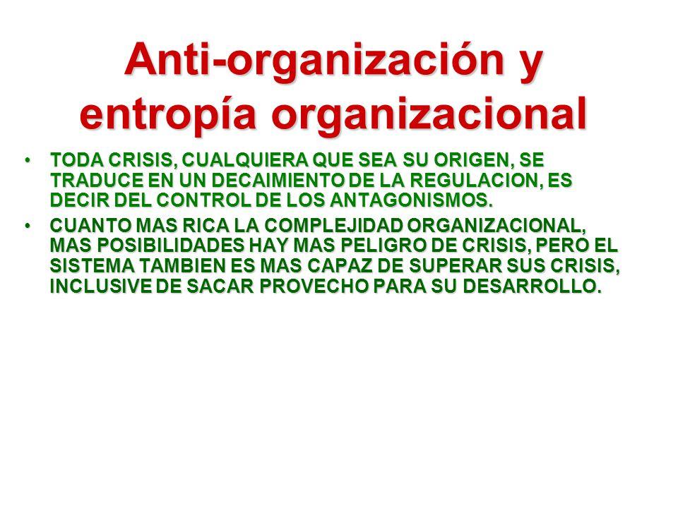 Anti-organización y entropía organizacional