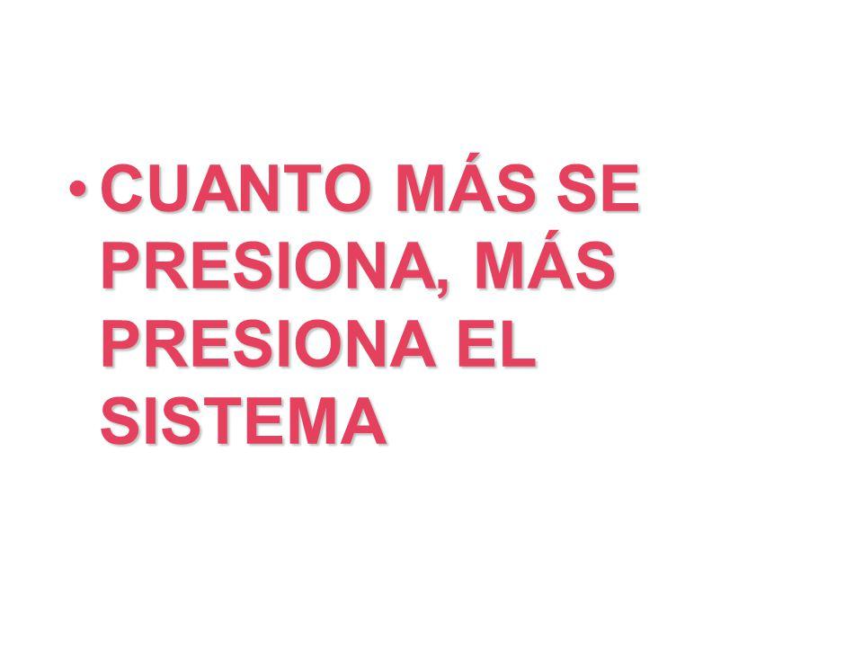 CUANTO MÁS SE PRESIONA, MÁS PRESIONA EL SISTEMA