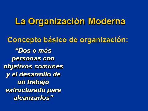 La Organización Moderna Concepto básico de organización: