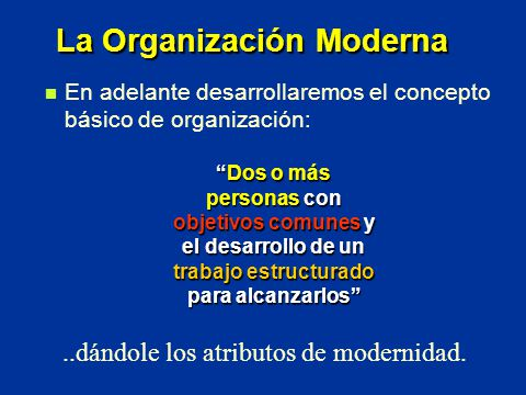 La Organización Moderna