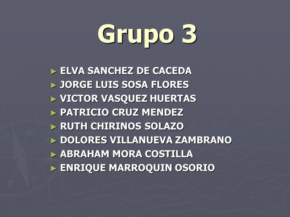 Grupo 3 ELVA SANCHEZ DE CACEDA JORGE LUIS SOSA FLORES