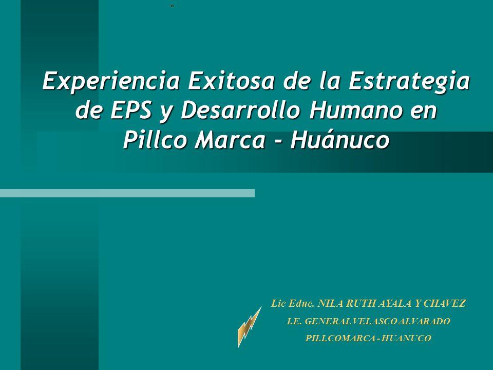 Lic Educ. NILA RUTH AYALA Y CHAVEZ I.E. GENERAL VELASCO ALVARADO