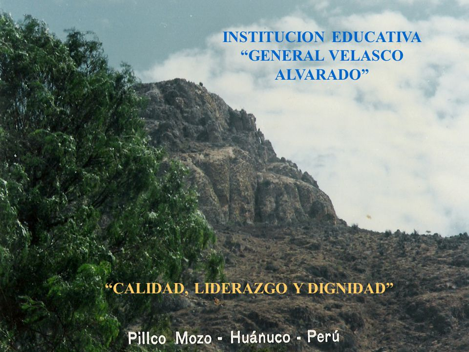 INSTITUCION EDUCATIVA GENERAL VELASCO ALVARADO