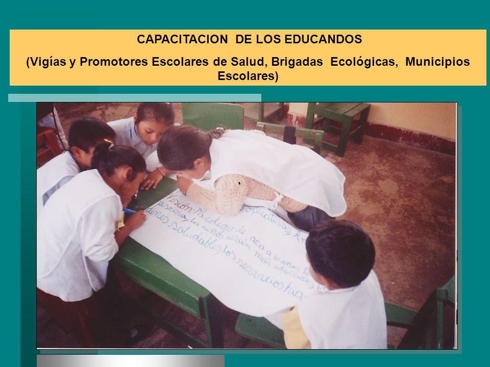 CAPACITACION DE LOS EDUCANDOS