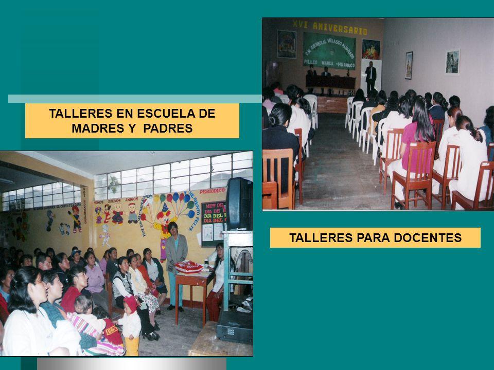 TALLERES EN ESCUELA DE MADRES Y PADRES TALLERES PARA DOCENTES