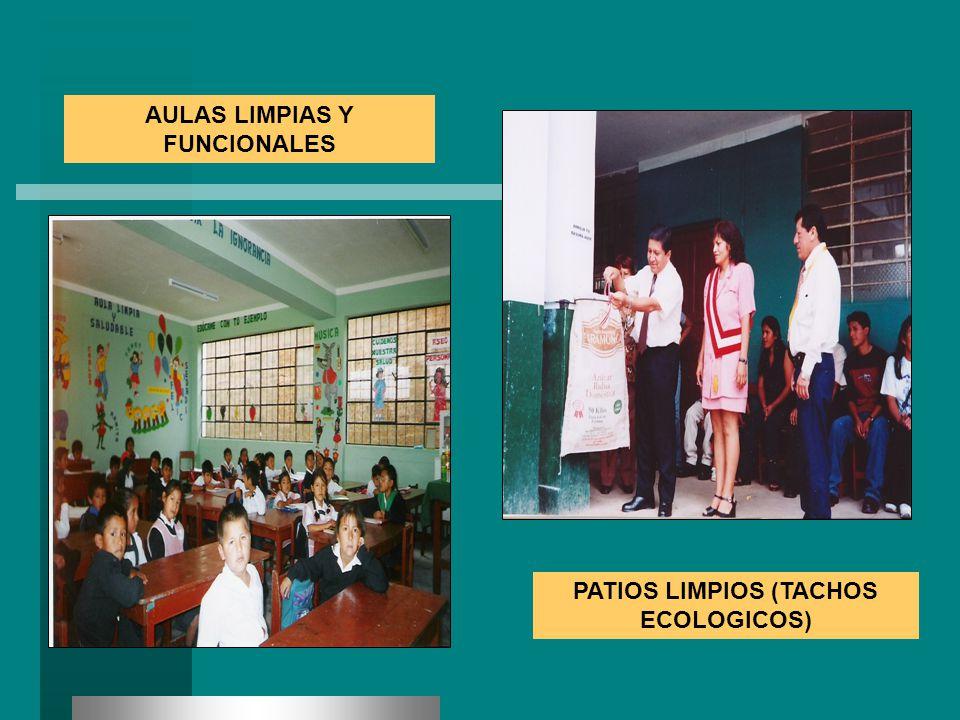AULAS LIMPIAS Y FUNCIONALES PATIOS LIMPIOS (TACHOS ECOLOGICOS)