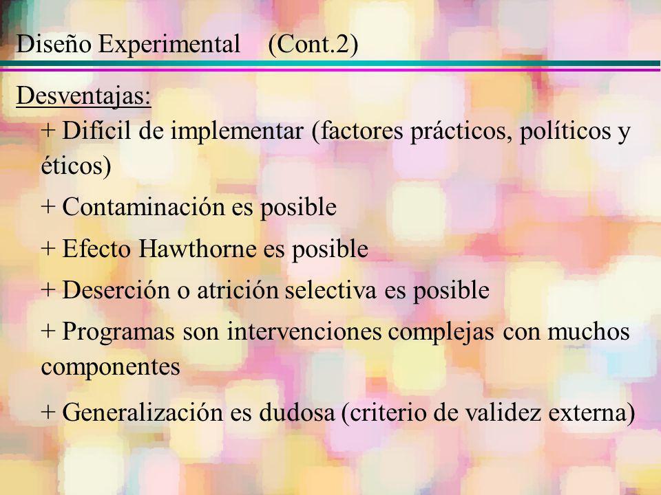 Diseño Experimental (Cont.2)
