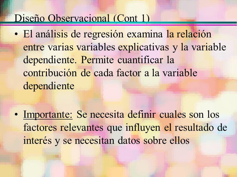 Diseño Observacional (Cont 1)