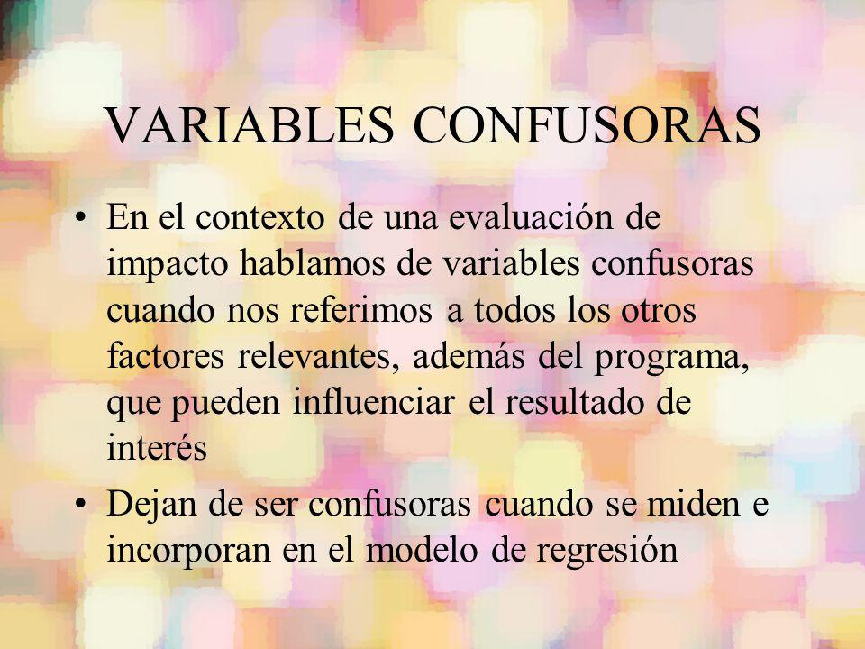 VARIABLES CONFUSORAS