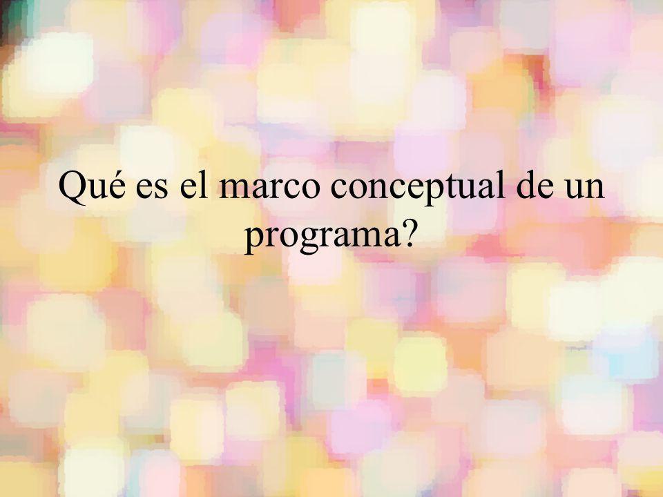 Qué es el marco conceptual de un programa