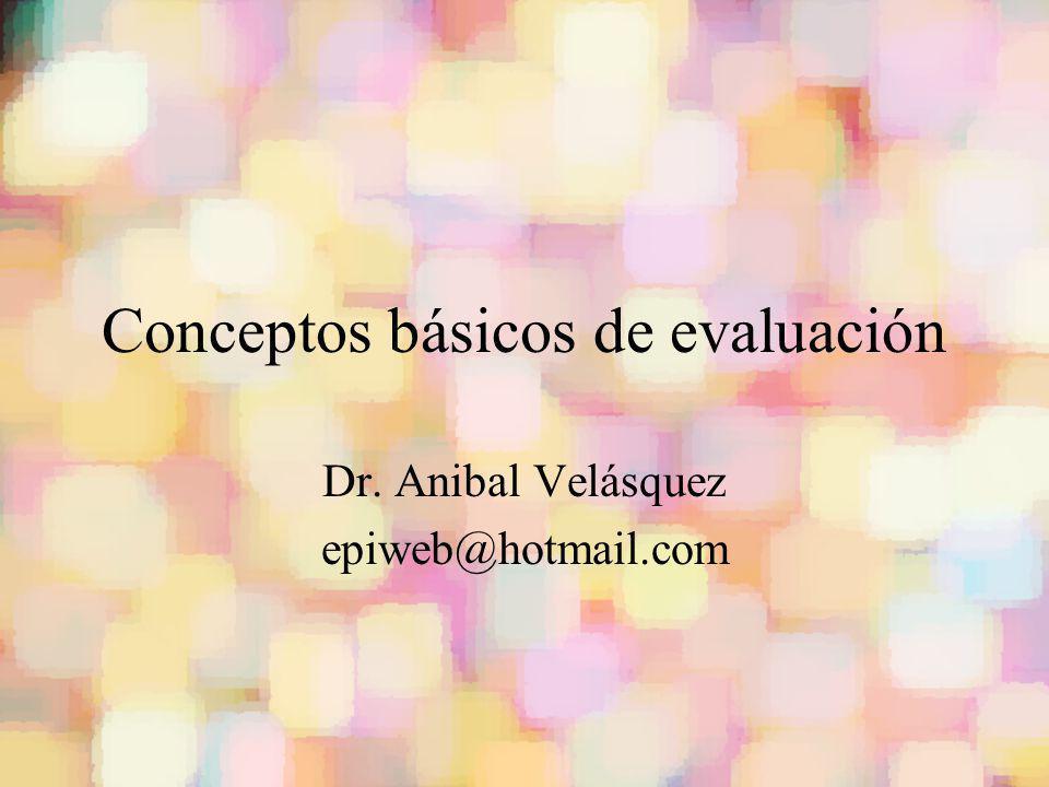 Conceptos básicos de evaluación