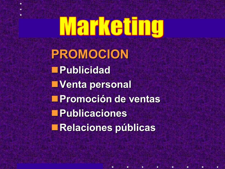 PROMOCION Marketing Publicidad Venta personal Promoción de ventas