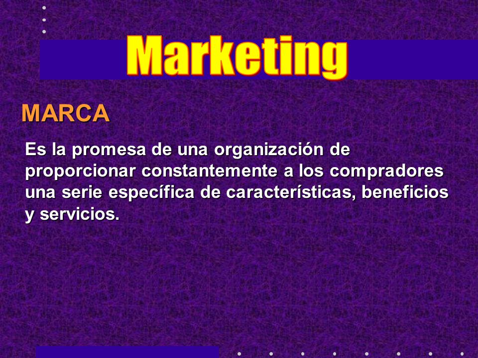 Marketing MARCA.