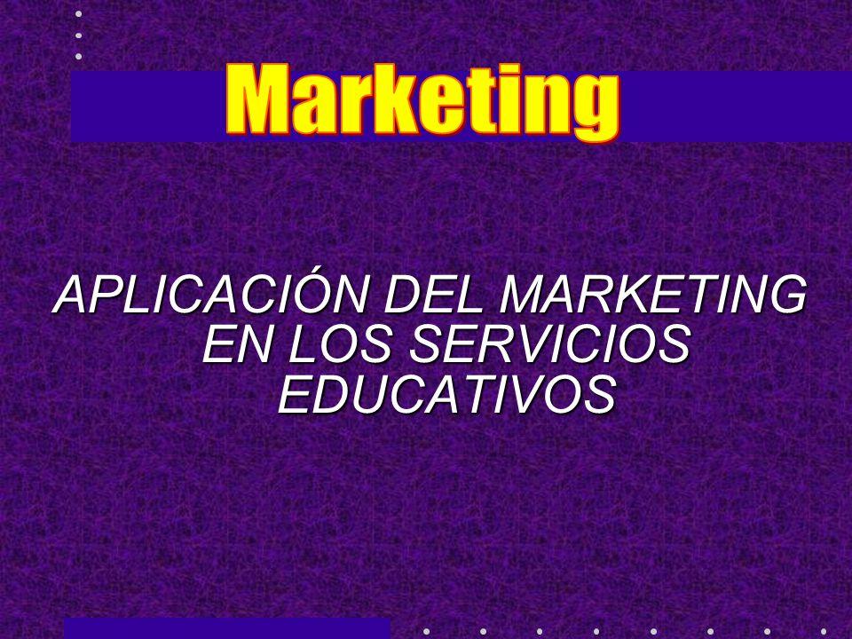 APLICACIÓN DEL MARKETING EN LOS SERVICIOS EDUCATIVOS