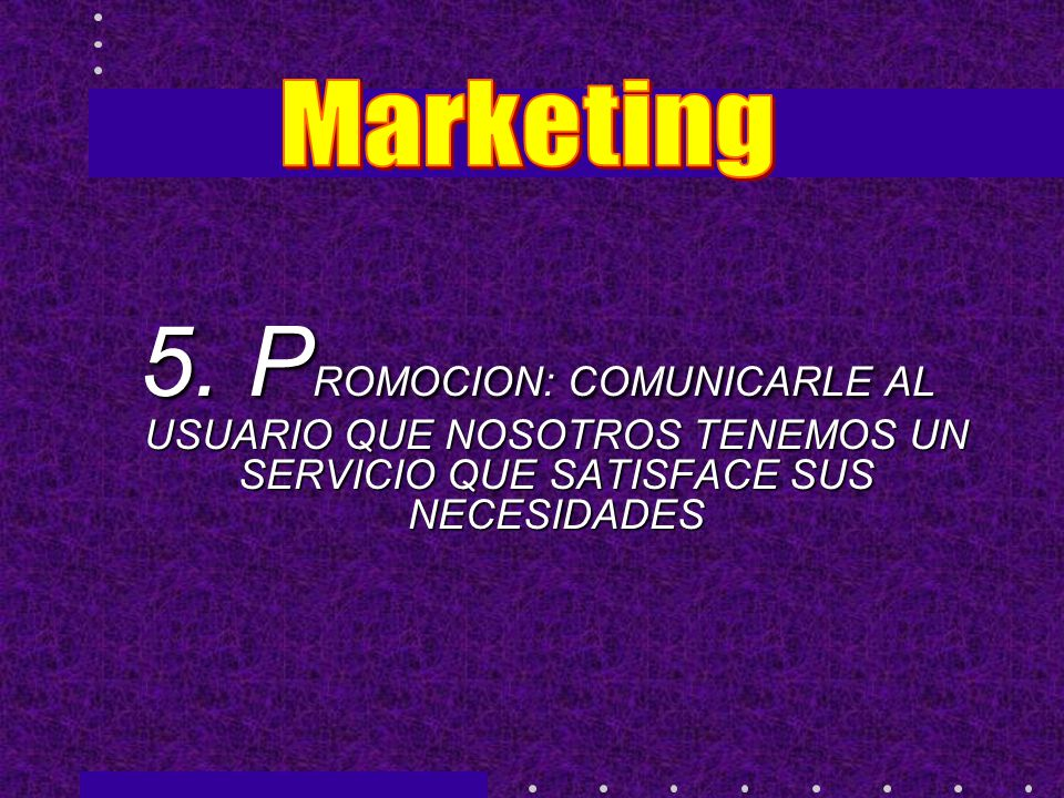 Marketing 5.