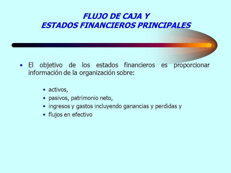 FLUJO DE CAJA Y ESTADOS FINANCIEROS PRINCIPALES